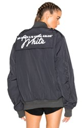 Off White Nylon Bomber Jacket In Gray