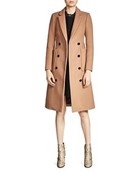Maje Galerie Double Breasted Coat Camel