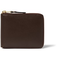 Comme Des Garcons Leather Wallet Chocolate