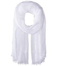 Love Quotes Linen Eyelash Scarf Yoga Scarves White