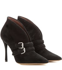 Tabitha Simmons Melissa Suede Ankle Boots Black