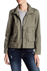 Jolt Twill Hi Lo Patch Pocket Jacket Green