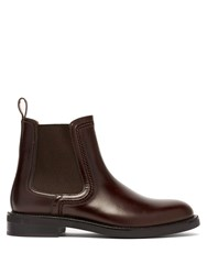 Lanvin Leather Chelsea Boots Brown