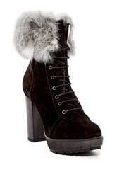 Manas Design Genuine Rabbit Fur Lined Boot Black