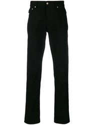 Ami Alexandre Mattiussi Fit 5 Pockets Jeans With Contrasted Cuff Black