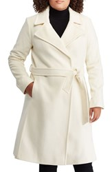 Lauren Ralph Lauren Plus Size Wool Blend Wrap Coat