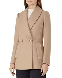 Reiss Malika Wool Blend Coat Camel