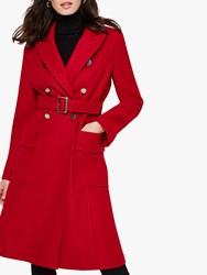 Damsel In A Dress Roxi Belted Coat Red