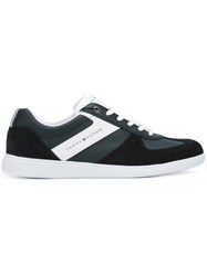 Tommy Hilfiger Panelled Sneakers Men Leather Suede Polyester Rubber 44 Blue