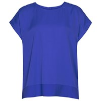 Reiss Elissa Button Back Top Electric Blue