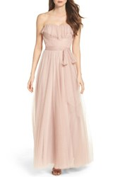 Watters Women's Angelie Strapless Tulle Gown
