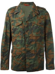 Fay Camouflage Lightweight Jacket Green