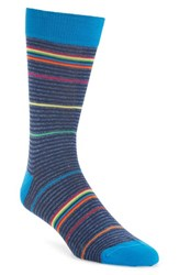 Bugatchi Men's 'Rainbow Stripe' Socks Navy
