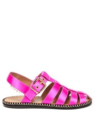 Marni Satin Fisherman Sandals Fuchsia