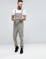 Asos Dungarees With Pocket Detail In Beige Ermine Green