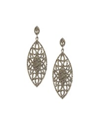 Bavna Mixed Diamond Marquise Drop Earrings Women's