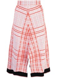 Proenza Schouler Drapey Plaid Skirt Red