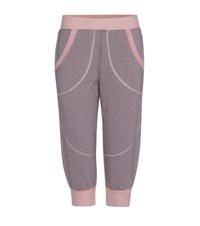 Adidas By Stella Mccartney Essentials Cropped Cotton Blend Track Pants Pink