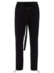 Fear Of God Cotton Jersey Drawstring Track Pants Black
