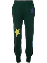 Allude Knitted Star Track Pants Green
