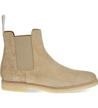 Common Projects Suede Chelsea Boots Sand