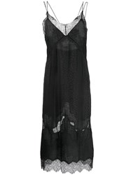Zadig And Voltaire Fashion Show Rachel Slip Dress Black