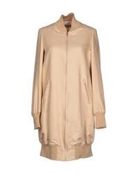 Veronique Branquinho Full Length Jackets Beige