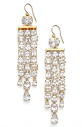 Lauren Ralph Lauren Linear Chandelier Earrings Gold White
