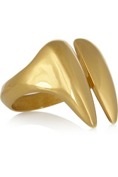 Katie Rowland Lilith 18 Karat Gold Plated Ring Metallic