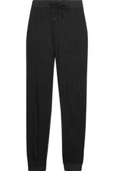 Koral Layered Perforated Micro Modal Blend Track Pants Black
