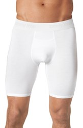 Tommy John 'Second Skin' Boxer Briefs White