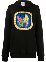 Moschino Graphic Print Hooded Sweater Black
