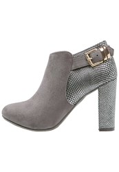 Xti High Heeled Ankle Boots Gris Grey