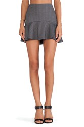 Lucca Couture Flutter Hem Skirt Gray