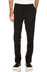 Second Layer Open Vent Track Pant In Black