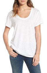 Treasure And Bond Women's Burnout Boyfriend Tee White