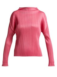 Pleats Please Issey Miyake Pleated Top Pink