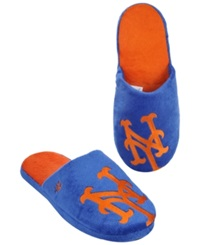 Forever Collectibles Men's New York Mets Big Logo Slippers Royalblue Orange