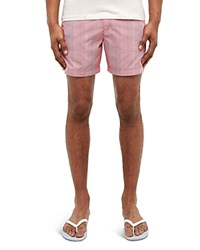 Ted Baker Striped Swim Shorts Pink