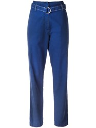 Vanessa Bruno Athe D Ring Belted Trousers Blue