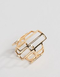 Ny Lon Nylon Geometric Ring Gold
