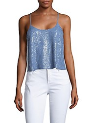Tibi Sequined Camisole Blue