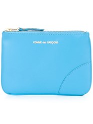 Comme Des Garcons Wallet Zipped Purse Blue