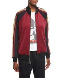 Marc Jacobs Colorblock Track Jacket Burgundy