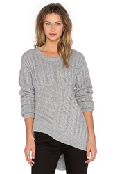 One Teaspoon Sovereign Wool Blend Knit Gray