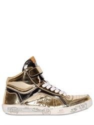 Premiata Revolution Metallic Leather Sneakers