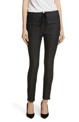 Cinq A Sept 'S Andie Lace Front Skinny Ankle Jeans Black