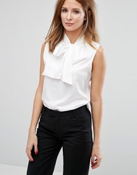 Millie Mackintosh Sleeveless Pussybow Blouse White