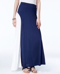 Inc International Concepts Colorblocked Maxi Skirt Only At Macy's Deep Twilight