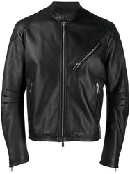 Tagliatore Zip Up Biker Jacket Black